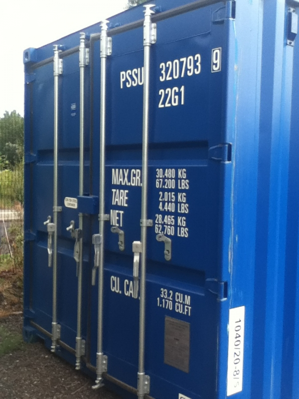 20 ft Long 8ft Wide Blue 20 ft Storage Sea Container - Store