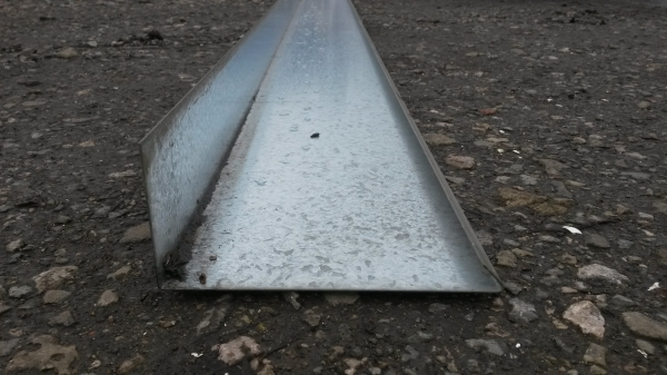Used Galvanised Edge Trim / Edgings / Boards / Edge Pieces For Concrete Flooring