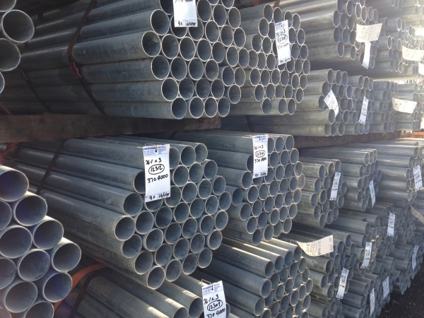6.000 Mtrs Lengths of 21.3mm x  2.5mm  Clean Galvanised Steel Tube Drainage - Water Pipe
