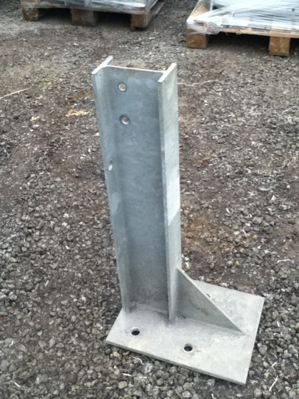 Used Bolt Down Posts Crash Barrier Post 625mm High