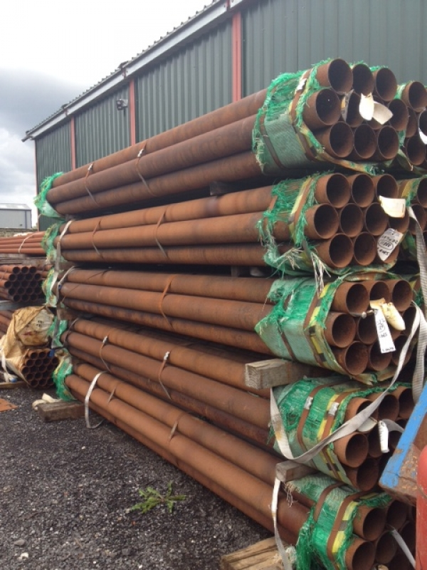 4.060 Mtr Lengths of 139.7mm x   3.2mm Unused Tube Varying Atmospheric Rust Drainage - Water Pipe