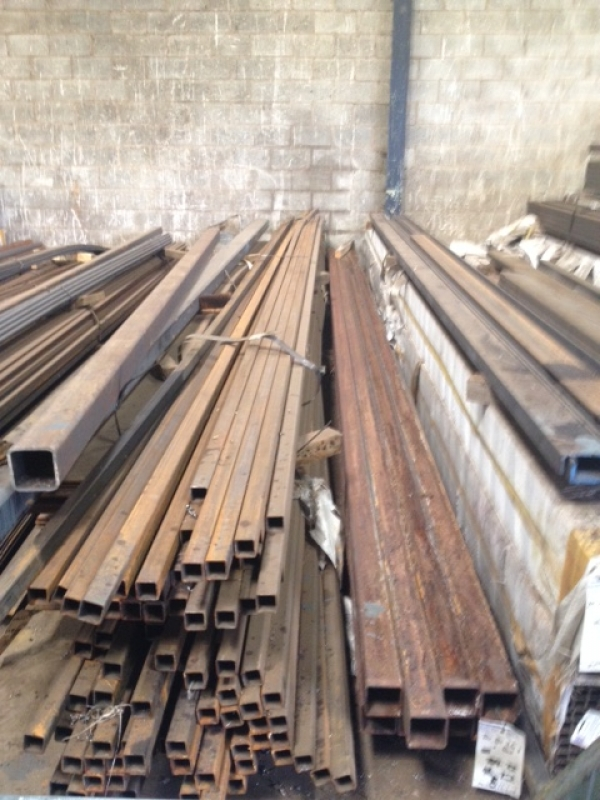 7 6 Mtrs Of 40mm X 40mm X 3mm Steel Box Section Slight