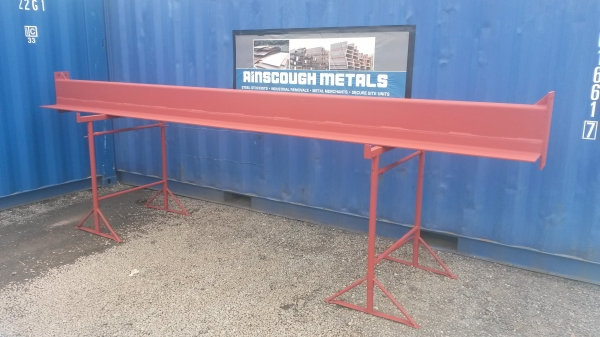 Surplus 250 mm x 150 mm x 6 mm Box Section Lintel C/w 180 mm x 75 mm x 8 mm Angle 6.240 Mtr Long Inc Plates (not Ub, Rsj, Steel Lintel Beam, Builders Beam)
