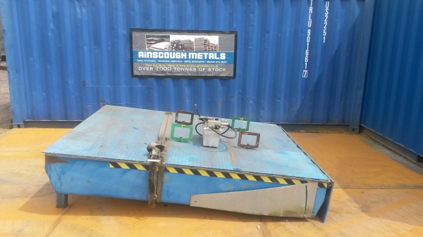 Used Crawford Blue Loading Bay Dock Leveller / Ramp With Chequer Plate Tread