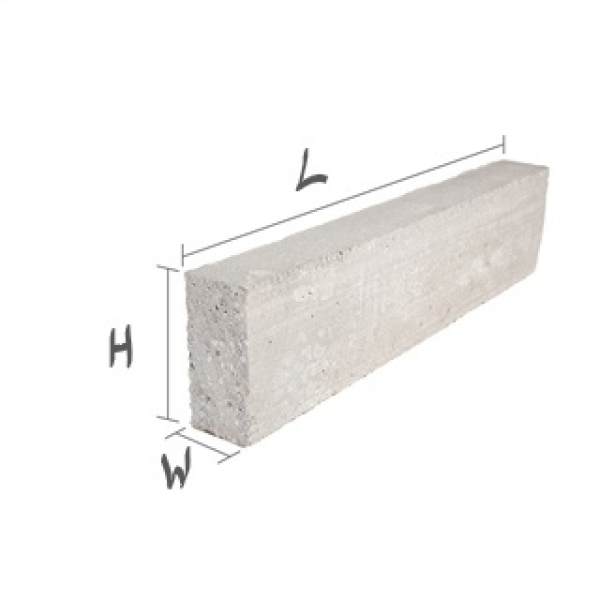 1200mmx100mmx215mm Prestressed Concrete Lintel Standard Finish