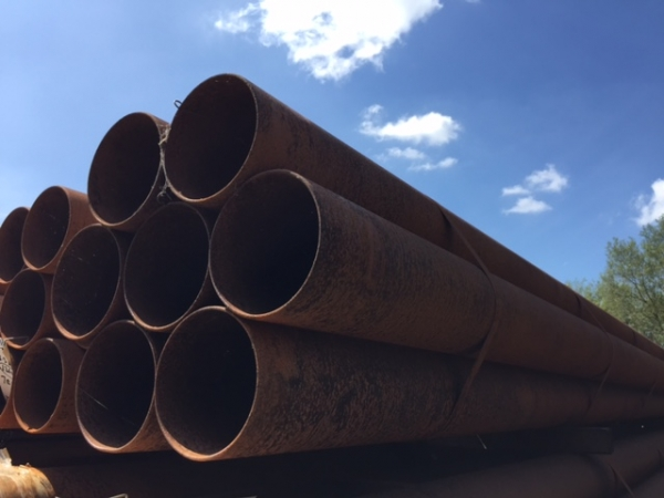 5.500mtr Lengths of 168.3mm x  5mm  Unused Slight Atmospheric Rust Steel Tube - Chs - Circular Hollow Section Drainage - Water Pipe