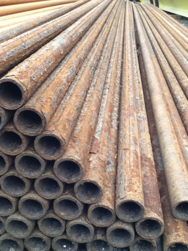 10.000mtr Lengths of 33.7mm x   3mm Unused  Heavy Rust Steel Tube - Chs Drainage - Water Pipe