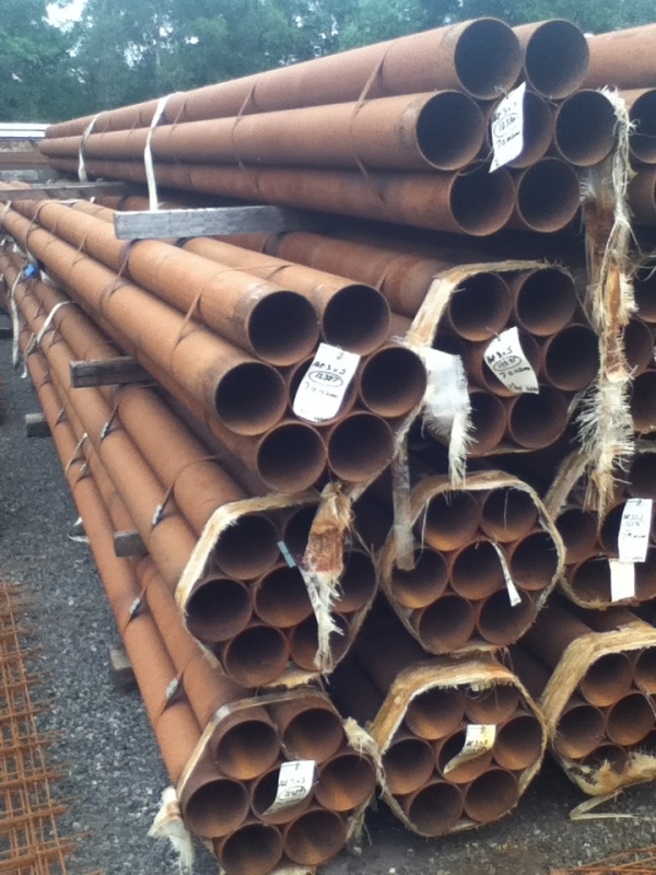 8.500 Mtr Lengths of 168.3mm x  5 mm  Unused Slight Atmospheric Rust Steel Tube - Chs - Circular Hollow Section Drainage - Water Pipe