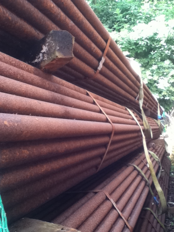 7.500 Mtr Lengths of 42.4mm x   3.2mm Unused Heavy Rust Steel Tube - Chs Drainage - Water Pipe
