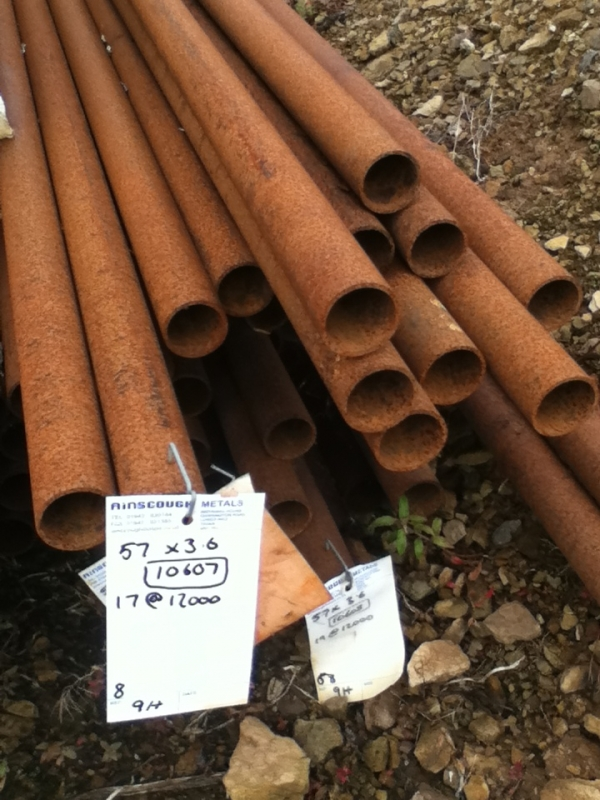 12.000 Mtrs 57mm Diameter  Steel Tube (3.6mm Thick) Drainage - Water Pipe