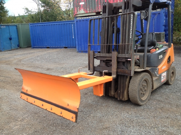 Orange  1.500mm Wide Snow Plough Attachment