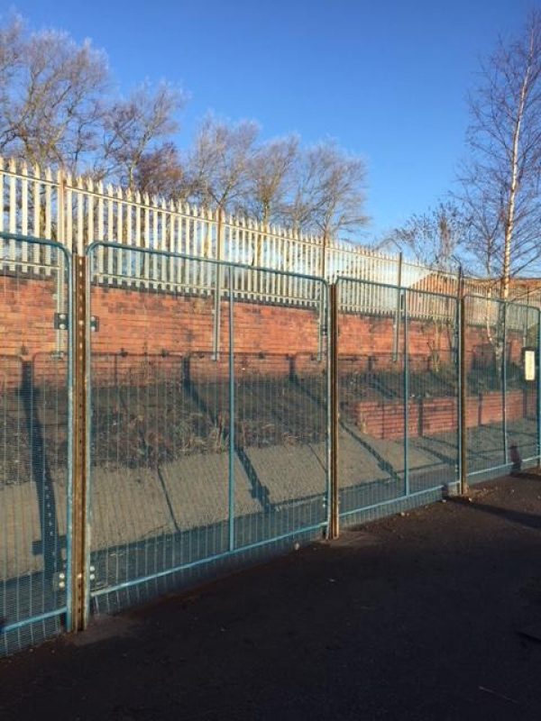 Fence Panels Used 2.400mtr High  Blue   - Price Per Linear Metre - Polmil - Prison Mesh - Anti-terrorism School Railings - Park Railings- Security Fencing