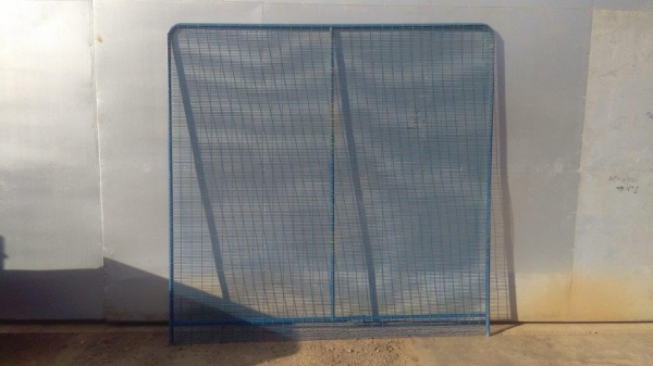 Fence Panels Used 3.000mtr x  2.000mtr Blue Polmil - Prison Mesh - Anti-terrorism   School Railings - Park Railings- Security Fencing