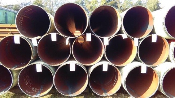 762mm Dia x 12mm Thickness x 10.400mtrs Long Grade X52 Used Painted Steel Tubes / Steel Drainage Pipes / Piling Tubes
