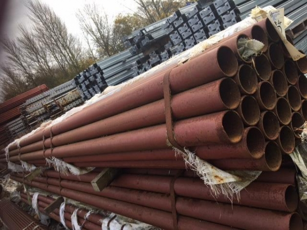 6.400 Mtr Lengths of 88.9mm x  4mm  Unused Painted Steel Tube- Painted  Chs - Painted Steel Pipe - Stored Outside so Stock Rusty Drainage - Water Pipe