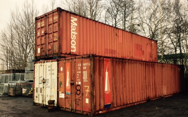 40ft Long 8ft Wide  Steel Storage Container Second Hand - Store