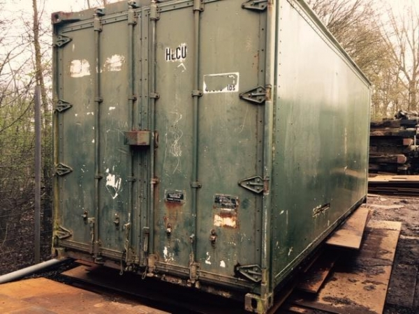 20ft Long 8ft Wide Green Storage Container Second Hand Store From