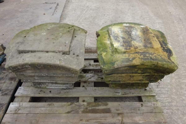 1 no Pair Reclaimed Stone Pier Cappings/ Tops