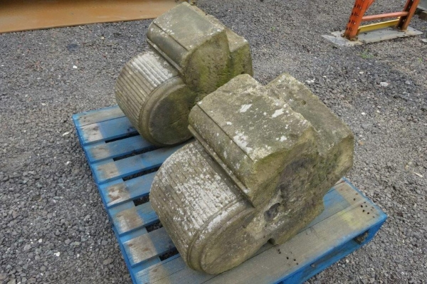 1 no Pair Large Reclaimed Stone Tops/cappings