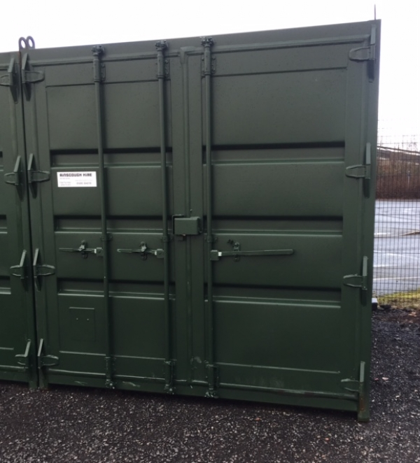 10ft Long 8ft Wide Green/blue or Red Steel Storage Container Second Hand - Store