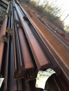 6.000mtr 100mm x 75mm x 11mm Mild Steel Angle Iron  Unused Stock Rusty Angle Iron - Rsa