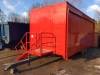 Used uk Built Stage / Exhibition Trailer Red