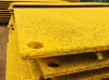 2.400mtr Long x 1.200mtr Wide x  18.5mm Thick  Anti Skid Steel Road Plate Painted Yellow - Bespoke - Made to Order  Plate