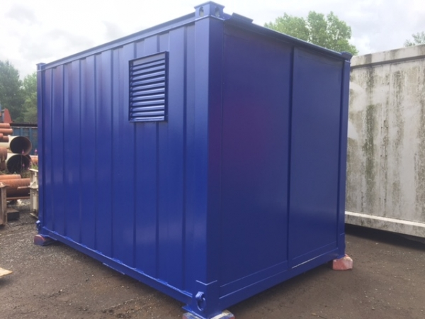 12ft Long 8ft Wide Blue Secure Generator Container / Power Cube Container - Second Hand - Store