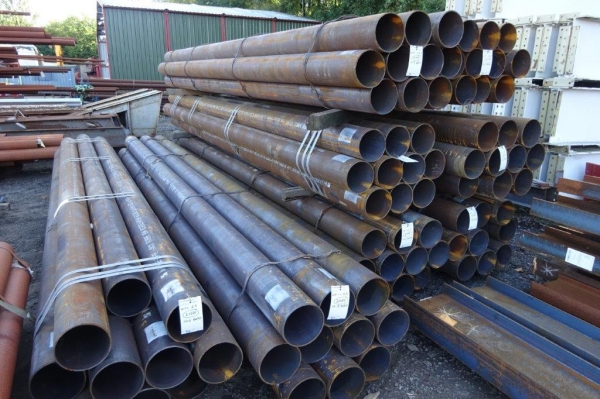 6.050 Mtrs Lengths of 219.1mm x  6.3mm  New Tube - Circular Hollow Section -  Drainage - Water Pipe
