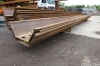 Used Pu16/pu20 Interlocking Sheet Piling Bundle of 13 no @ 7.015/7.460mtr Long