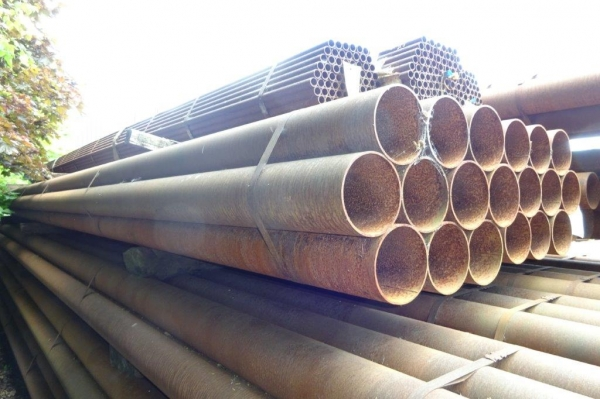 10.000 Mtrs Lengths of 168.3mm x  5mm  Unused  Stock Rusty Steel Tube - Chs - Steel Pipe Drainage - Water Pipe