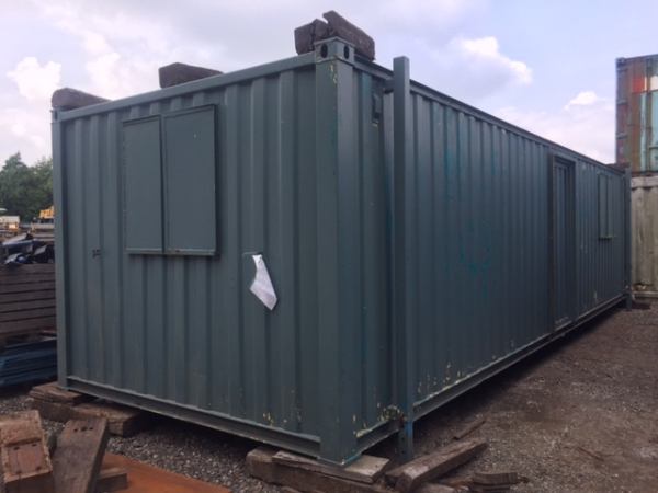 32ft Long 10ft Wide Grey Anti-vandal Office Unit Second Hand - Store