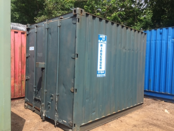 10ft Long 8ft Wide Grey Steel Storage Container Second Hand - Store
