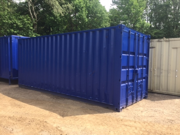 20ft Long 8ft Wide Red, Blue, Green or Grey Steel Storage Container Second Hand Refurbished / Bespoke - Made to Order - Store