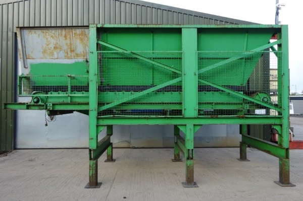1 no Used Green Hopper Conveyor, C/w 2 no Conveyors - Conveying System - Waste Feeding System - Picking Station