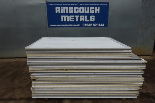 Used Fridge Panels Bundle of 20no 2.100 Mtr Approx Long x 1.160 Mtr Wide x 50 mm  Deep    Insulated