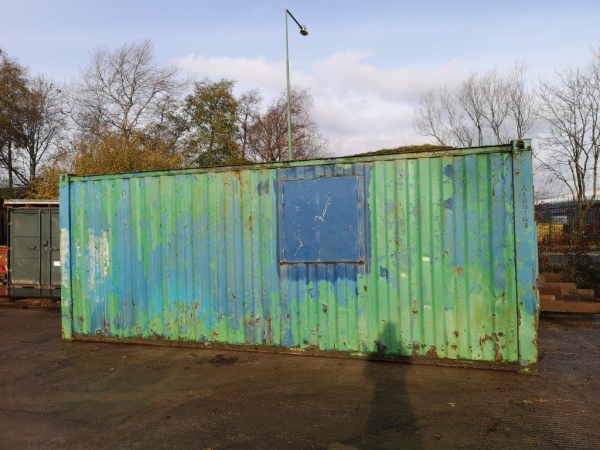 20 ft Long 8 ft Wide Green/ Blue 50/50 Storage Container / Office Cabin Second Hand - Store