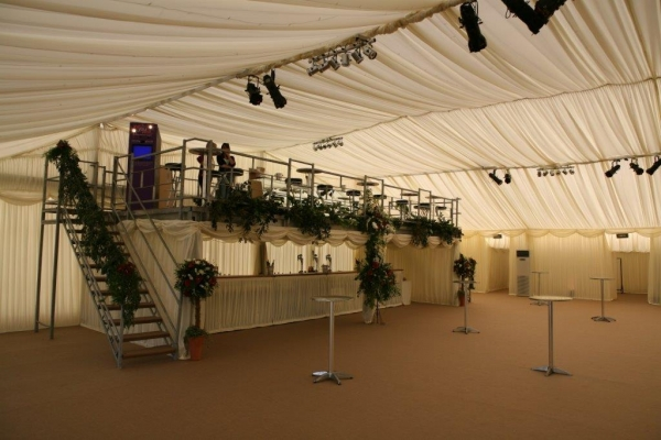 Used Stage / Mezzanine Floor / Platform / Structure 10.000mtr x 4.000mtr C/w 2 no Staircases, Silver Colour