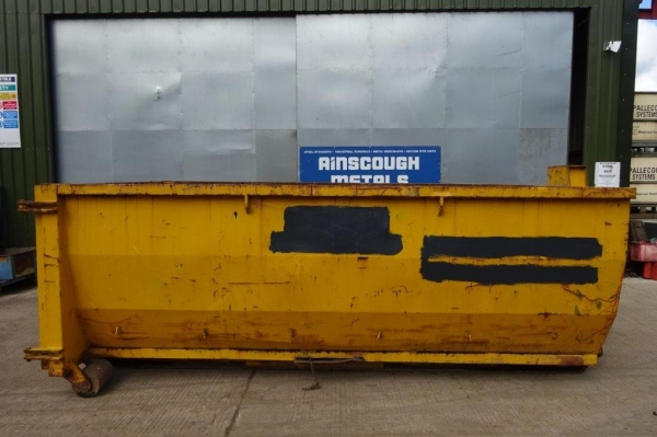 Used Open Top 18 Yard Roll on Roll Off Skip - 4.280mtr Long - Yellow - Used / Very Good Condition Skip