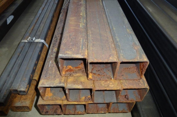 7.600 Mtr of 60 mm x 60 mm x  3 mm Steel Box Section  ( 60 x 60 x 3 mm Box Section 7.600 Mtr Unused Stock Rusty )