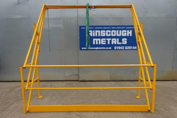Used Yellow Pallet Safety Gate For Mezzanine Floors / Palletised Loading Gate