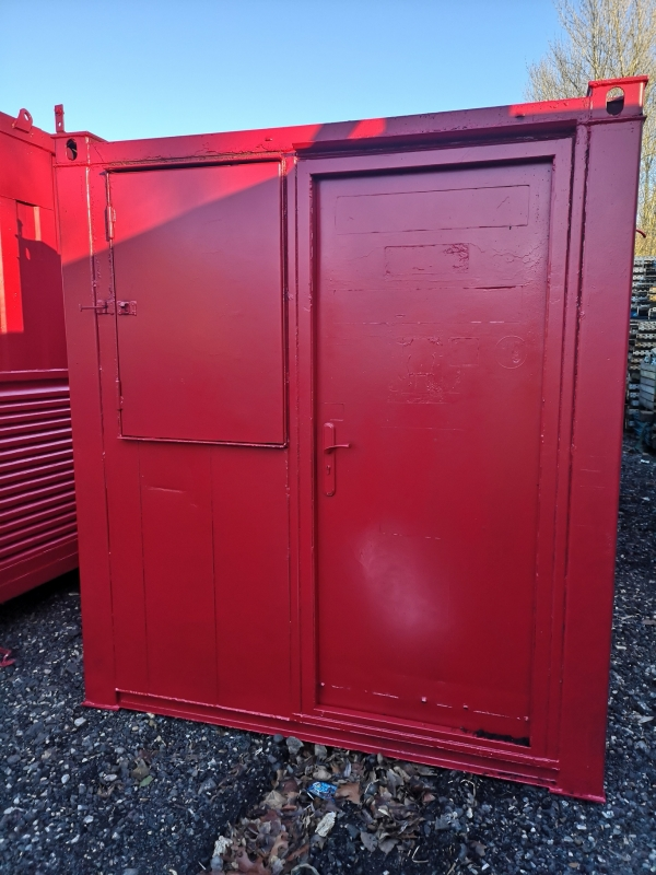 22.5 ft Long 7 ft Wide Red Office / Canteen / Toilet Cabin Second Hand - Store