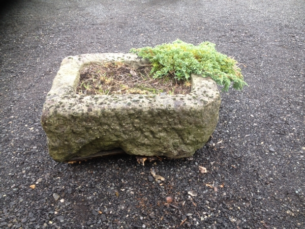Second Hand  1.200 Mtr Wide 900 mm Deep Stone Trough - Used Planter  Period Weathered Stone Trough