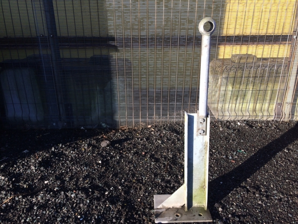 500mm High x 40mm Dia Armco Galvanised Handrail Supports