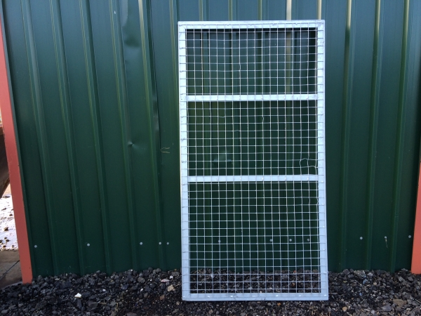 Galvanised Mesh Panels 1.875mtr x 1.100mtr Ideal Use as Fence Panel - Gate