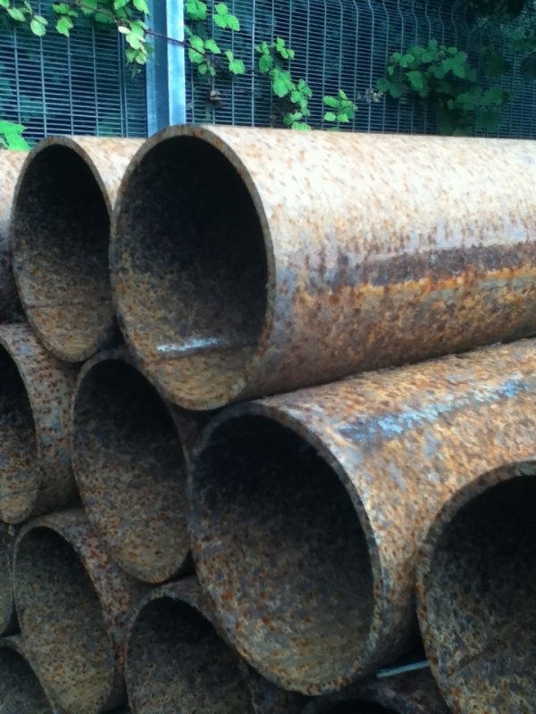 12.600 Mtr Lengths of 76.1mm x  3.2mm  Unused Varying Atmospheric Rust - Stock Rusty Steel Tube - Chs - Steel Pipe Drainage - Water Pipe