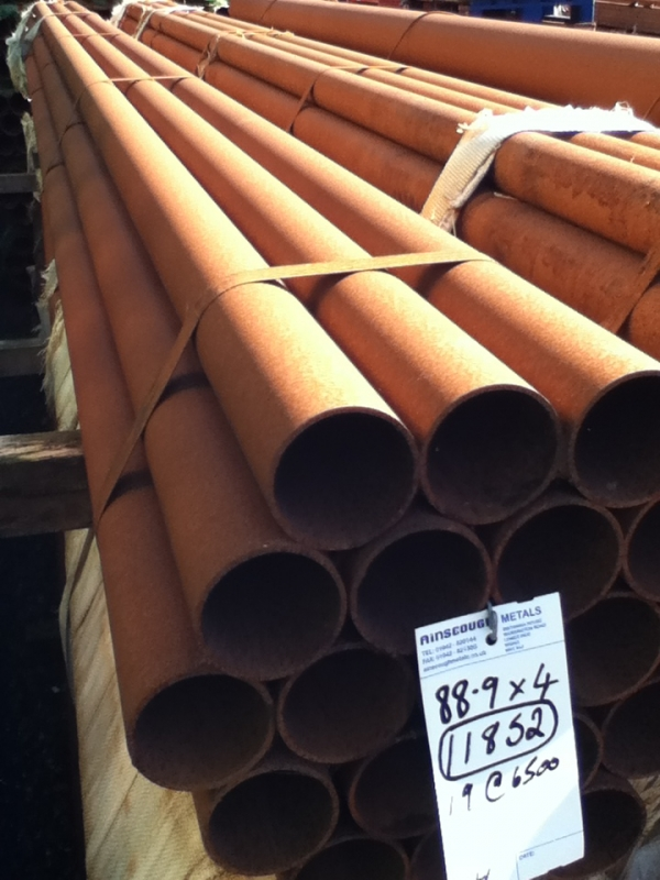 6.500 Mtrs Lengths of 88.9mm x  4mm  Unused Varying Atmospheric Rust - Slight Atmospheric Rust Steel Tube - Chs - Circular Hollow Section Drainage - Water Pipe