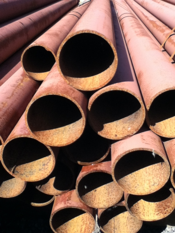 6.500 Mtrs Lengths of 88.9mm x  4mm  Unused Painted Atmospheric Rust Steel Tube -   Stock Rusty Painted Steel Tube - Che - Steel Pipe Drainage - Water Pipe
