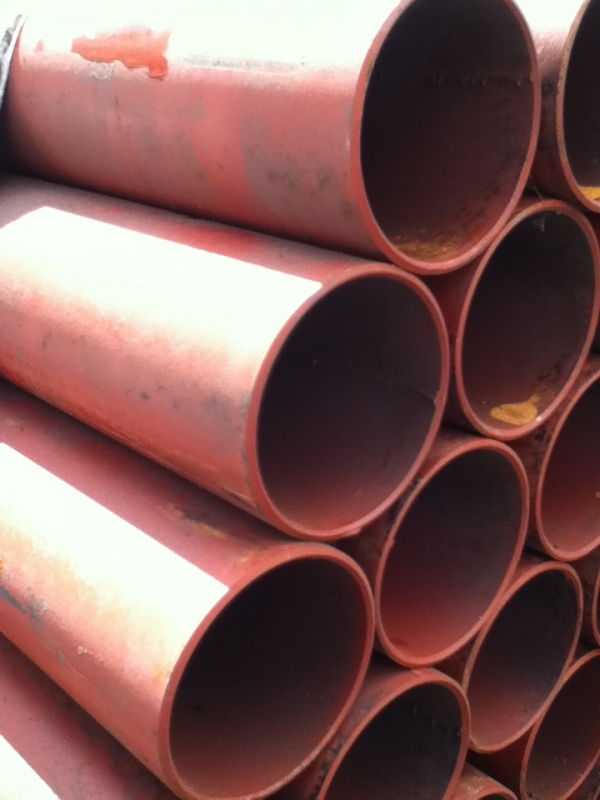6.400 Mtr Lengths of 88.9mm x  4mm  Unused Painted Steel Tube - Painted Chs - Painted Steel Pipe Drainage - Water Pipe