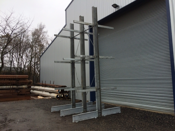 Used Galvanised Cantilever Racking / Storage Racking / Galvanised Racking / Timber Storage Racking / Steel Storage Racking / Christmas Tree Racking
